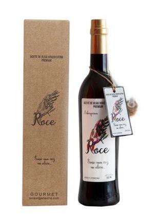 Aceite de oliva virgen extra variedad arbequina con caja